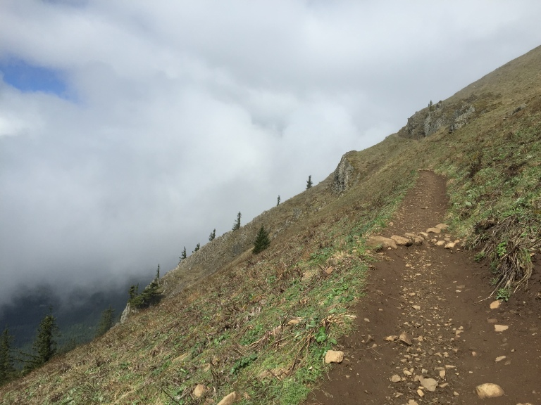 The trail to the summit is stunning